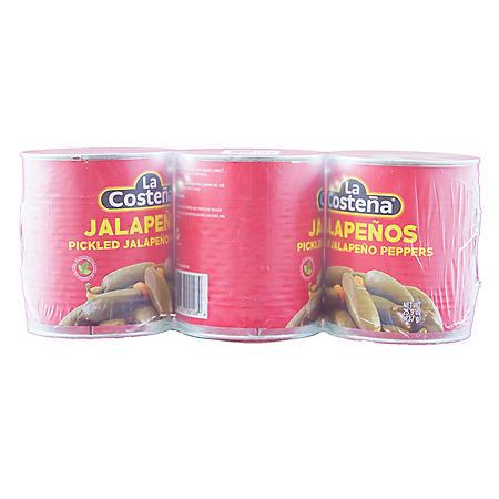 La Costena Whole Jalapenos (26 oz., 3 pk.)