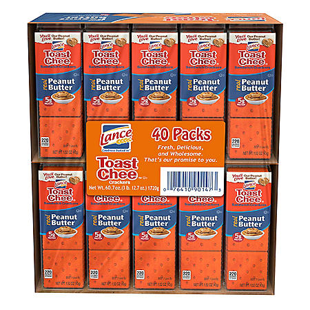 Lance ToastChee Peanut Butter Crackers (1.52 oz., 40 ct.)