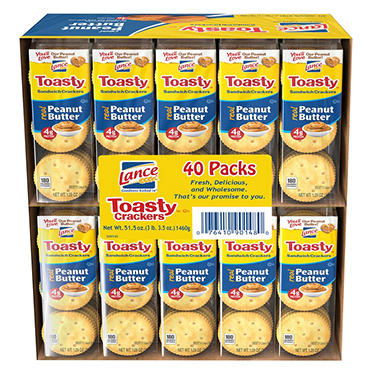 Lance Toasty Peanut Butter Sandwich Crackers (40 ct.)