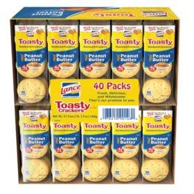 Lance Toasty Sandwich Crackers (1.29 oz., 40 ct.)