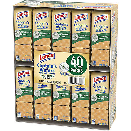 Lance Captain's Wafers Cream Cheese and Chives (40 pk.)