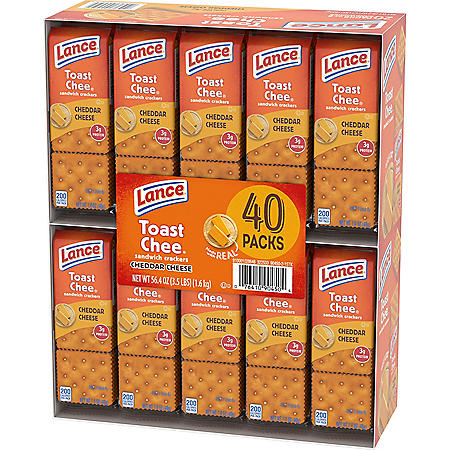 Lance ToastChee Cheddar Cheese (1.41 oz., 40 ct.)