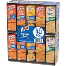 Lance Sandwich Crackers, Variety Pack (40 pk.)