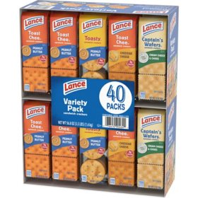 Lance Sandwich Crackers, Variety Pack (1.41 oz., 40 ct.)