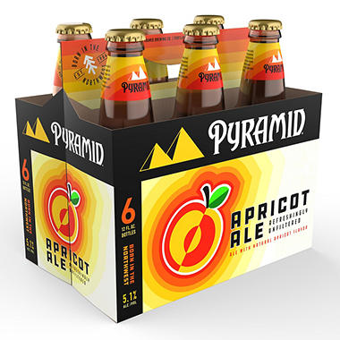 PYRAMID APRICOT ALE 6 / 12 OZ BOTTLES