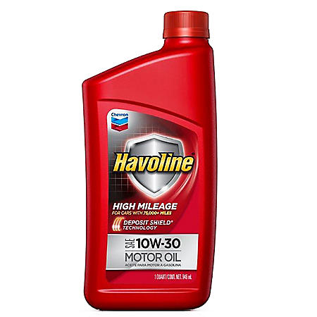 Havoline High Mileage Motor Oil 10w30 6/1qts