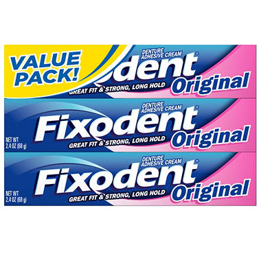 Fixodent Denture Adhesive Cream - 3/2.4 oz.