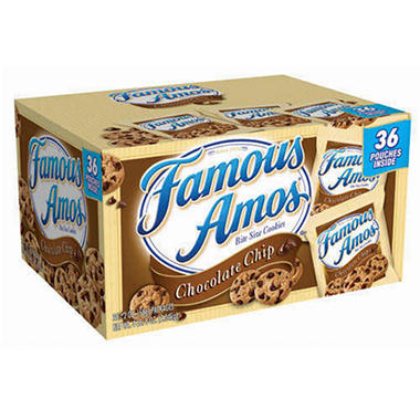 Famous Amos Chocolate Chip Cookies - 36 pouches