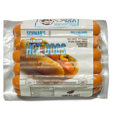 Schwab's Premium Hot Dogs (32 oz. pkg.)