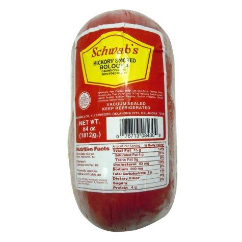 Schwab's Hickory-Smoked Bologna Chub (4 lbs.)