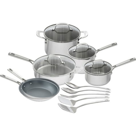 Emeril Lagasse 15-Piece Stainless-Steel Cookware Set