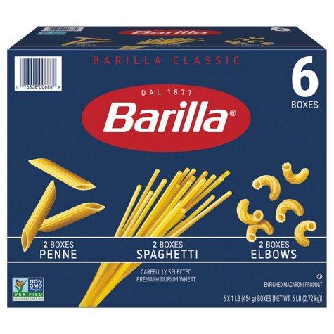 Barilla Pasta Variety Pack (16 oz., 6 ct.)