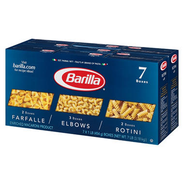 barilla pasta variety pack lb box ct sam s club barilla pasta variety pack 1 lb box 7 ct