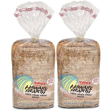 Love's Hawaii Hearth 100% Whole Wheat (24 oz., 2 pk.)