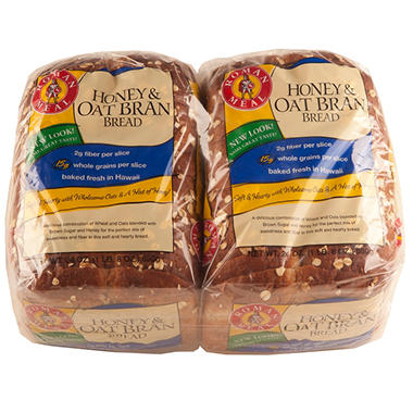 Roman Meal Honey & Oat Bran Bread (24 oz., 2 pk.)