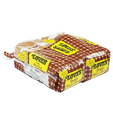 Love's Jumbo Wheat Bread (16oz / 2pk)