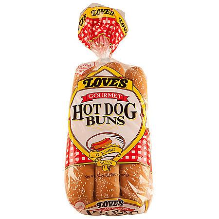 Love's Gourmet Hot Dog Buns (32 oz., 12 pk.)