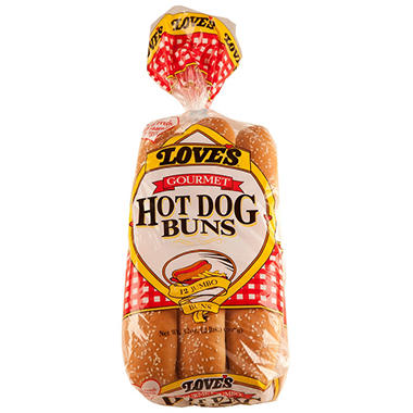 Love's Gourmet Hot Dog Buns (32 oz., 12 pk.)
