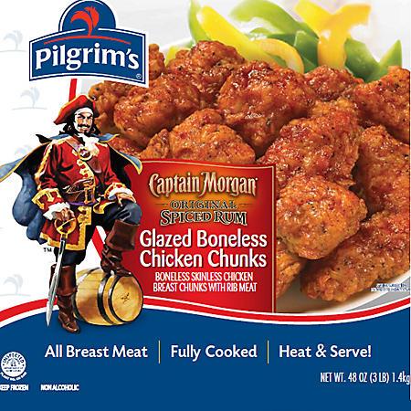 Captain Morgan Glazed Chicken Breast Chunks - 48 oz.