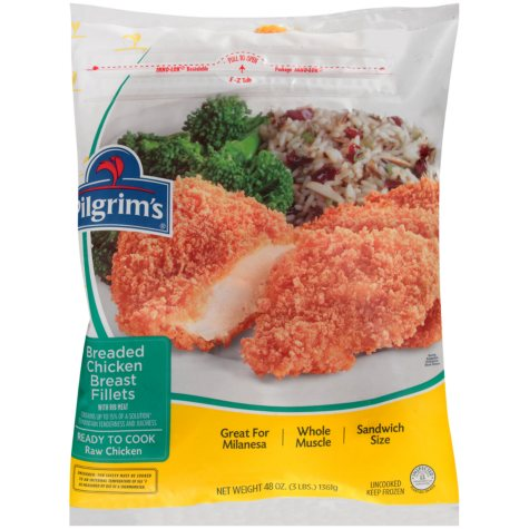 Pilgrim's Breaded Chicken Breast Fillets with Rib Meat (48 oz.)