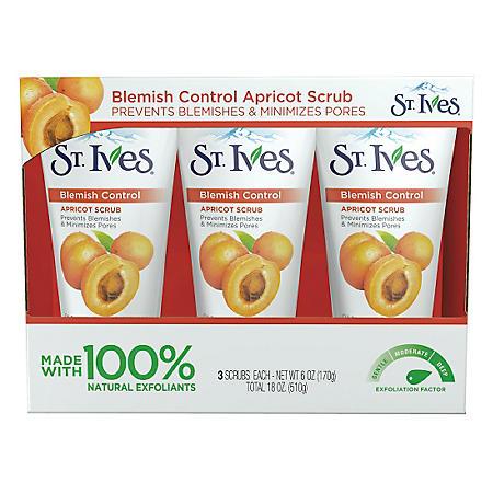 St. Ives Blemish Control Apricot Scrub (6 oz., 3 pk.)