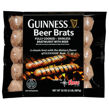 Guinness Beer Brats  - 5 ct. - 2 pk.