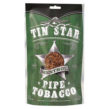 Tin Star Methol Pipe Tobacco (8 oz. Bag)