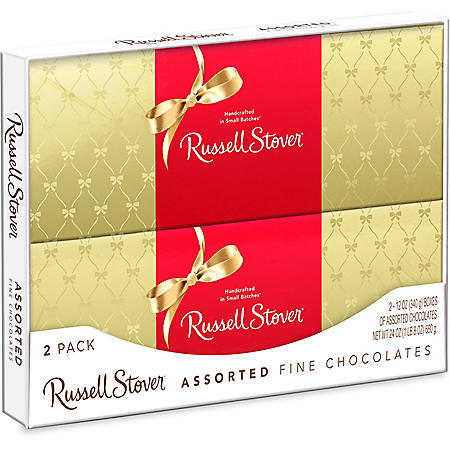 Russell Stover Chocolates Assorted Gift Boxes (12 oz., 2 pk.)
