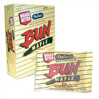 Pearson's Bun Bar, Maple With Milk Chocolate  (1.75 oz. bar, 24 ct.)