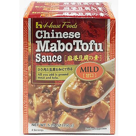 Chinese Mabo Tofu Sauce, Mild (5.29 oz., 3 pk.)