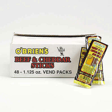 O'Brien's Beef & Cheddar Sticks - 48 ct.