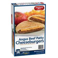Sandwitch Bros. Angus Cheese-Burgers Flatbread (1 lb. 15.5 oz., 14 ct.)