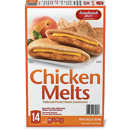 Sandwich Brothers Flatbread Chicken Melt, Frozen (14 pk.)
