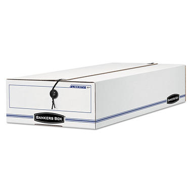 Bankers Box - Liberty Storage Box - Check/Voucher - White/Blue - 12/Carton