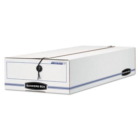 Bankers Box - Liberty Storage Box - Check/Voucher - White/Blue - 12/Carton