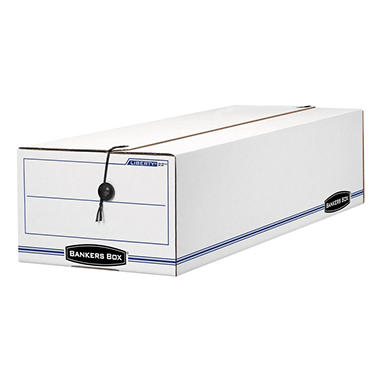 Bankers Box LIBERTY Record Form Storage Box, White/Blue (9 1/2