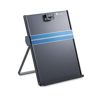 Fellowes - Metal Copyholder, Stainless Steel, 200 Sheet Capacity -  Black