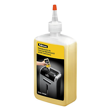 Fellowes - Powershred Performance Oil -  12 oz. Bottle w/Extension Nozzle