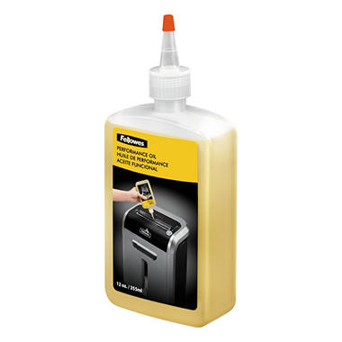 Fellowes Shredder Oil, 12 oz. Bottle with Extension Nozzle - 2 Pack