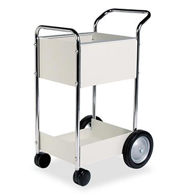 Fellowes Steel Mail Cart, Dove Gray