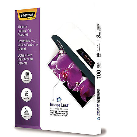 Fellowes - ImageLast Laminating Pouches with UV Protection, 3mil, 11 1/2 x 9 -  100/Pack