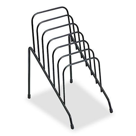 Fellowes - Wire Step File Jr, 6 Comp, Steel, 4 3/8 x 6 1/2 x 7 3/4 -  Black
