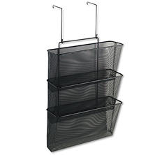 Fellowes - Mesh Partition Additions Three-File Pocket Organizer, 12 5/8 x 16 3/4 -  Black