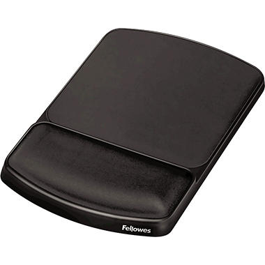 Fellowes - Gel Mouse Pad w/Wrist Rest, Nonskid, 6 1/4 x 10 1/8 -  Platinum/Graphite