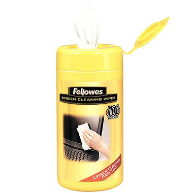 Fellowes - Screen Cleaning Wet Wipes, 5.12