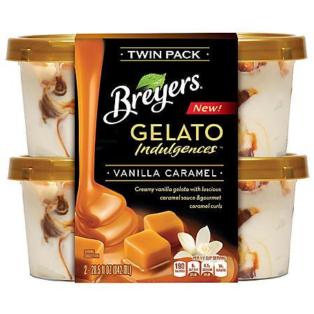 Breyers Gelato Indulgences, Vanilla Caramel (2 pk.)