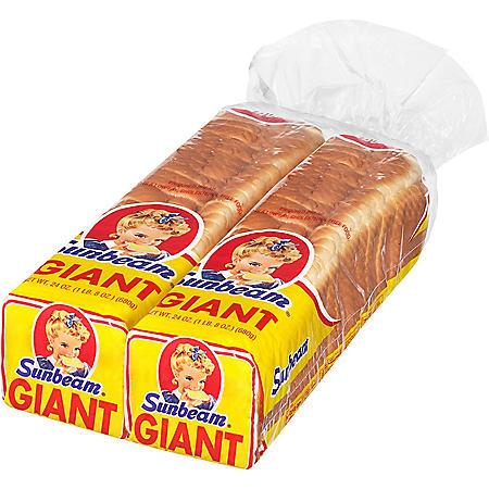 Sunbeam Giant White Bread (24 oz. / 2 ct.)