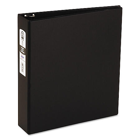 "Avery Economy Non-View Binder with Round Rings, 3 Rings, 2"" Capacity, 11 x 8.5, Black"