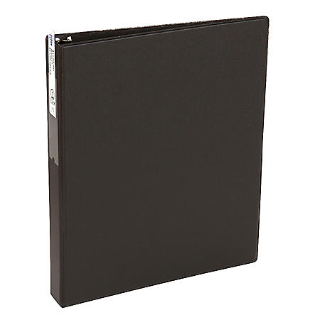 "Avery Economy Non-View Binder with Round Rings, 3 Rings, 1"" Capacity, 11 x 8.5, Black"