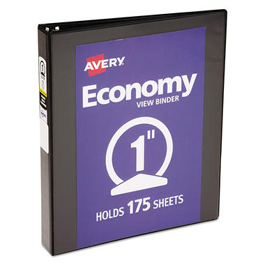 Avery - Economy Vinyl Round Ring View Binder, 1